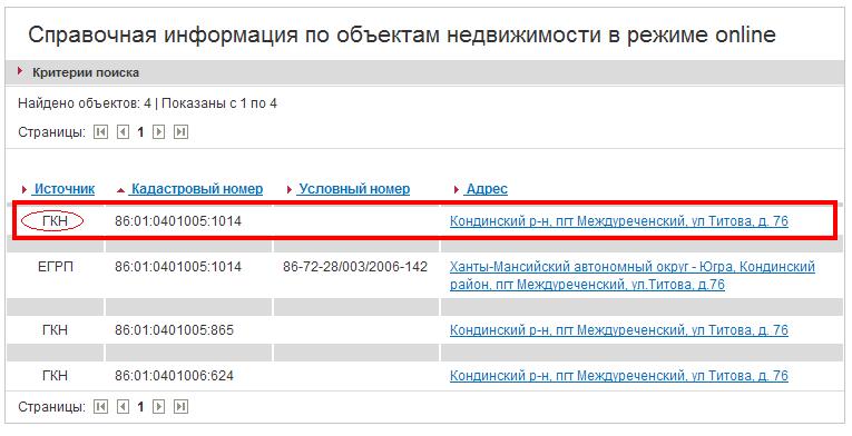 информация о регистрации объектов недвижимости